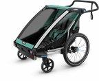 Thule Chariot Lite2 -kaksipaikkainen lastenkuljetuskärry, Blue Grass