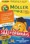 Möller Omega-3 Pikkukalat -pureskeltava kalaöljyvalmiste, jättipakkaus, 72 kaps