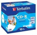 Verbatim Datalife Plus 48X/52X Printable 10 kpl CD-R levypaketti 700MB/80min