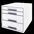 Leitz Wow Cube vetolaatikosto, 4 laatikkoa, valkoinen