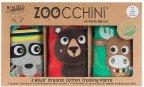 Zoocchini Forest Chums -harjoitteluhousut koko M, 3 kpl, pojille 3-4v