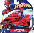 Spider-man- figuuri ja ajoneuvo