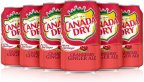 Canada Dry Cranberry Ginger Ale USA -virvoitusjuoma, 355 ml, 12-PACK