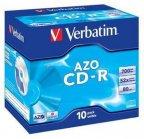 Verbatim Datalife Plus 48X/52X Crystal 10 kpl 700MB/80min CD-R levypaketti muovikoteloissa (jewel case)