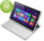 "Acer ICONIA W700 11,6"" Full HD/Intel Core i3-2365M/4 GB/64 GB SSD/Windows 8 -tablet + näppäimistö"