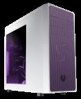 BitFenix Neos Window - ikkunallinen ATX-kotelo ilman virtalähdettä, väri valkoinen/violetti