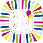 Duni Balloons & Confetti -kartonkilautanen, 22 x 22 cm, 10 kpl