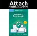 Kaspersky Total Security - 3 laitetta - 12 kk - Attach - tietoturvaohjelmisto, aktivointikortti
