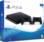 Sony PlayStation 4 Slim 1 Tt + toinen DualShock 4 -pelikonsolipaketti, musta