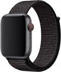 Apple Watch 44 mm musta Nike Sport Loop -ranneke, MV7L2