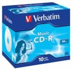 Verbatim MusicLife Plus CD-R Audio with Metal Azo 80min/700Mt CD-R levy 8X muovikotelossa (10 kpl)