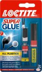 Loctite Super Glue All Plastics -muoviliima, 2 g + 4 ml