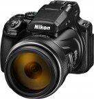Nikon COOLPIX P1000 -digikamera, musta
