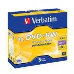 Verbatim DVD+RW 4X media 4.7GB 5 kpl paketti Jewel Case-muovikoteloissa, ver 1.1