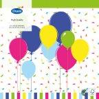 Duni Balloons & Confetti -lautasliina, 33 x 33 cm, 20 kpl