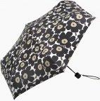 Marimekko Mini-Unikko Mini Manual -sateenvarjo, valkoinen/musta/oliivi