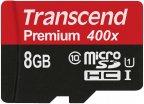 Transcend 8GB microSDHC Class 10 UHS-I 400x -muistikortti