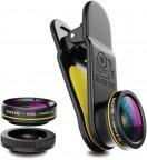 Black Eye G4 Kit 3 in 1, Fish eye, Wide, Macro -linssit puhelimeen