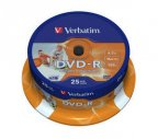 Verbatim DVD-R 16X media 4.7GB, Wide Printable