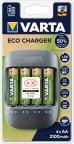 Varta Eco Charger -latauslaite, 4 x AA 2100 mAh recycled akut