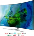 "Samsung QE75Q8C 75"" Smart 4K Ultra HD Curved QLED -televisio"