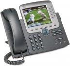 Cisco Unified IP Phone 7975G, SCCP, SIP, tummanharmaa- VoIP -puhelin