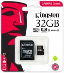 Kingston 32 Gt microSD Canvas Select UHS-I Speed Class 1 (U1) -muistikortti