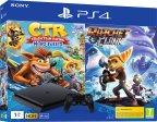 Sony PlayStation 4 Slim 1 Tt + Crash Team Racing + Ratchet & Clank -pelikonsolipaketti, musta