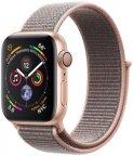 Apple Watch Series 4 (GPS) kullanvärinen alumiinikuori 40 mm, hietaroosa Sport Loop -ranneke, MU692KS/A