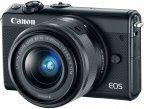 Canon EOS M100 -mikrojärjestelmäkamera, musta + 15-45 mm objektiivi