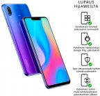 Huawei Nova 3 -Android-puhelin Dual-SIM, 128 Gt, purppura