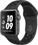 Apple Watch Nike+ Series 3 (GPS) tähtiharmaa 38 mm, antrasiitti/musta Nike Sport-ranneke, MTF12