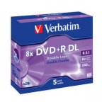 Verbatim DVD+R Double Layer 8X 8.5 GB, 5 kpl Jewel Case -paketti