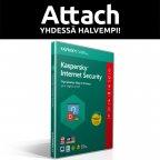 Kaspersky Internet Security - 3 laitetta - 12 kk - tietoturvaohjelmisto, Attach - uuden laitteen ostajalle