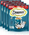 Dreamies Lohi -kissan makupalat, 180 g, 4-PACK