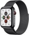 Apple Watch Series 5 (GPS + Cellular) tähtimusta ruostumaton teräskuori 44 mm, milanolaisranneke, MWWL2