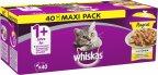 Whiskas 1+ Ragout Siipikarja hyytelössä -kerta-annospussit, 40 x 85 g