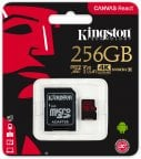 Kingston 256 Gt microSD Canvas React UHS-I Speed Class 3 (U3) -muistikortti