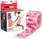 Rocktape Standard -kinesioteippi, pinkki maastokuvio