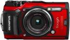 Olympus TOUGH TG-5 -digikamera, punainen + neopreenipussi