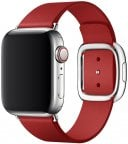 Apple Watch 40 mm punainen (PRODUCT)RED moderni nahkaranneke, keskikokoinen, MTQU2