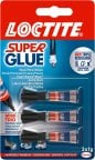 Loctite Super Glue Mini Trio -pikaliima, 3 x 1 g