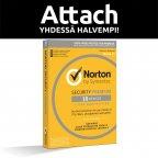 Norton Security Premium - 10 laitetta / 12 kk -tietoturvaohjelmisto, attach - uuden laitteen ostajalle