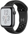 Apple Watch Nike+ Series 4 (GPS) tähtiharmaa alumiinikuori 44 mm, antrasiitti/musta Nike Sport -ranneke, MU6L2