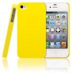WAVE puhelinsuoja, Apple iPhone 4/4S, keltainen mattapinta
