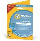 Norton Security Deluxe - 3 laitetta / 12 kk -tietoturvaohjelmisto, aktivointikortti, attach - uuden laitteen ostajalle