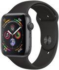 Apple Watch Series 4 (GPS) tähtiharmaa alumiinikuori 44 mm, musta urheiluranneke, MU6D2