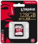 Kingston 128 Gt SD Canvas React UHS-I Speed Class 3 (U3) -muistikortti