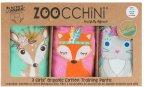 Zoocchini  Woodland Princesses -harjoitteluhousut koko S, 3 kpl, tytöille 2-3v