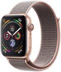 Apple Watch Series 4 (GPS) kullanvärinen alumiinikuori 44 mm, hietaroosa Sport Loop -ranneke, MU6G2